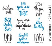 happy father's day lettering... | Shutterstock .eps vector #424911694