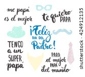 father's day lettering... | Shutterstock .eps vector #424912135