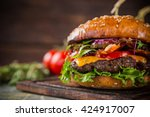 close up of home made tasty... | Shutterstock . vector #424917007