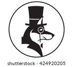 smart dog icon. vector... | Shutterstock .eps vector #424920205