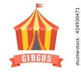 circus tent vector  flat design | Shutterstock .eps vector #424930471