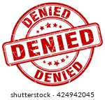 denied. stamp | Shutterstock .eps vector #424942045