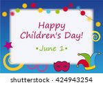 happy children's day vector.... | Shutterstock .eps vector #424943254