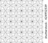 monochrome geometric seamless... | Shutterstock .eps vector #424952539
