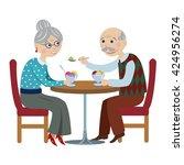 happy cartoon grandparents.an...   Shutterstock .eps vector #424956274