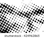 abstract dotted halftone... | Shutterstock .eps vector #424962865