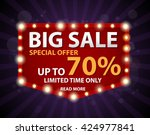 big sale banner with retro sign  | Shutterstock .eps vector #424977841