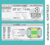 football ticket modern design.... | Shutterstock .eps vector #424978315