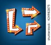 retro arrow light frames. arrow ... | Shutterstock .eps vector #424982875