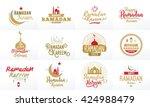 ramadan kareem. vector... | Shutterstock .eps vector #424988479