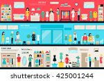 shopping center and boutique... | Shutterstock .eps vector #425001244
