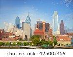 philadelphia downtown cityscape ... | Shutterstock . vector #425005459