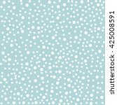 winter polka dot background in... | Shutterstock . vector #425008591