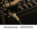 Black Guitar Amplifier With...