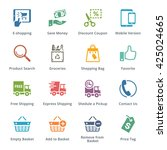 e commerce icons set 4  ... | Shutterstock .eps vector #425024665
