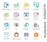 e commerce icons set 3  ... | Shutterstock .eps vector #425024779