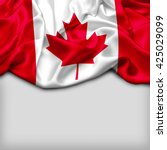 canada abstract flag and plain... | Shutterstock . vector #425029099