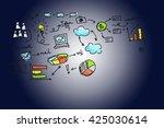 media. | Shutterstock . vector #425030614