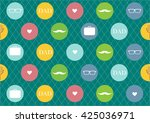 seamless wallpaper for happy... | Shutterstock .eps vector #425036971