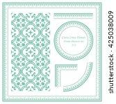 vintage frame pattern set 313... | Shutterstock .eps vector #425038009