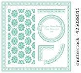 vintage frame pattern set 333... | Shutterstock .eps vector #425038015