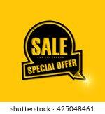sale banner design.vector... | Shutterstock .eps vector #425048461