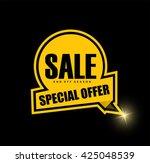 sale banner design.vector... | Shutterstock .eps vector #425048539