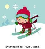 skiing boy | Shutterstock .eps vector #42504856