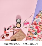 fashion summer girl clothes... | Shutterstock . vector #425050264