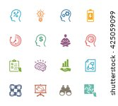 productivity improvement icons... | Shutterstock .eps vector #425059099