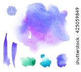 vector. set of purple and... | Shutterstock .eps vector #425059849