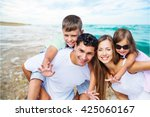 beach. | Shutterstock . vector #425060167