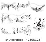 musical notes staff backgrounds ... | Shutterstock . vector #42506125