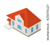 vector isometric country house... | Shutterstock .eps vector #425070127