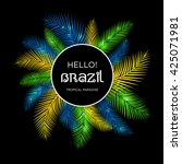 welcome to brazil  vector... | Shutterstock .eps vector #425071981