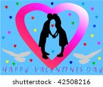 happy valentine vector... | Shutterstock .eps vector #42508216