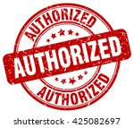 authorized. stamp | Shutterstock .eps vector #425082697