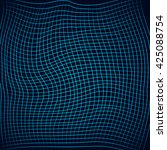 grid with twisting and... | Shutterstock .eps vector #425088754