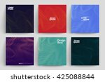 set of abstract cards with... | Shutterstock .eps vector #425088844