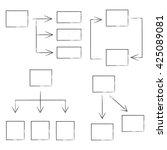 hand drawn diagram set ... | Shutterstock .eps vector #425089081