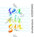 summer vacation hand drawn... | Shutterstock .eps vector #425093401