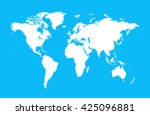 world map flat vector | Shutterstock .eps vector #425096881
