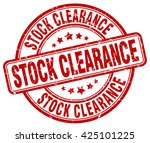 stock clearance. stamp | Shutterstock .eps vector #425101225