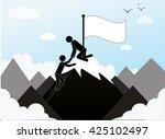 teamwork concept businessman... | Shutterstock .eps vector #425102497