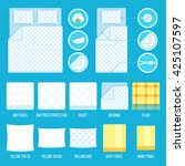 vector set of bedding elements... | Shutterstock .eps vector #425107597