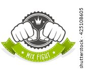 mix fight club emblem with two... | Shutterstock .eps vector #425108605