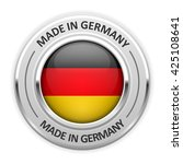 silver medal made in germany... | Shutterstock .eps vector #425108641