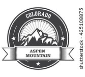 aspen  colorado   mountain peak ... | Shutterstock .eps vector #425108875