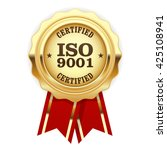 iso 9001 certified   quality... | Shutterstock .eps vector #425108941