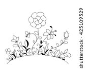 hand drawn flowers | Shutterstock .eps vector #425109529